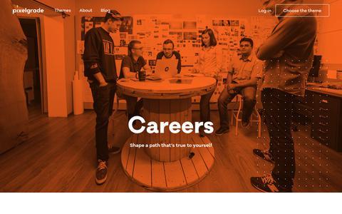 Screenshot of Jobs Page pixelgrade.com - Careers - Pixelgrade - captured Sept. 21, 2018
