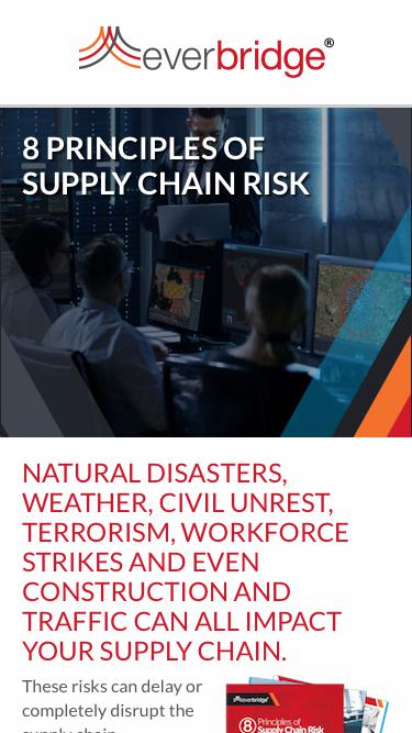 8 Principles of Supply Chain Risk