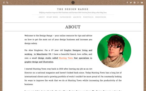 Screenshot of About Page thedesignrange.com - About the Design Range | The Design Range - captured April 14, 2016