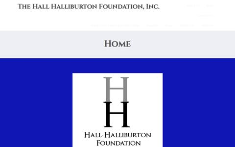 Screenshot of Home Page hallhalliburton.org - The Hall Halliburton Foundation, Inc. - captured Oct. 19, 2016