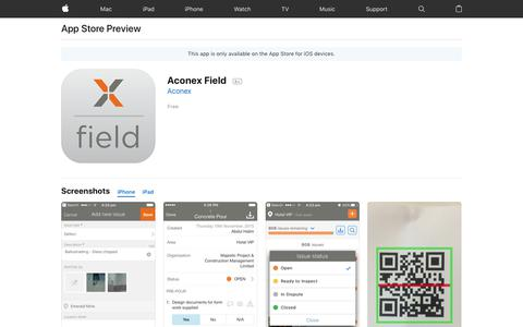 Aconex Field on the App Store
