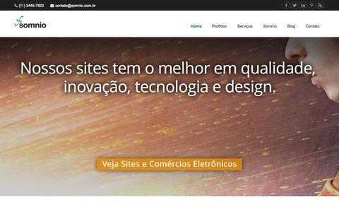 Screenshot of Home Page somnio.com.br - Bem-vindo a Somnio Media Design - captured Sept. 12, 2015