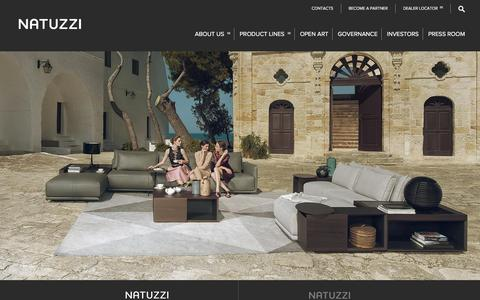 Screenshot of Home Page natuzzi.com - Natuzzi - captured Jan. 13, 2016