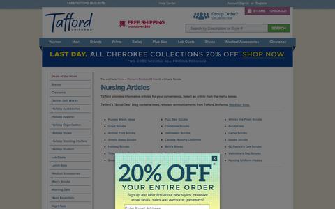 Screenshot of Press Page tafford.com - Nursing Articles - captured Sept. 19, 2014