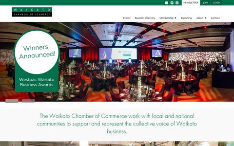 Screenshot of Home Page waikatochamber.co.nz - Waikato Chamber of Commerce - captured Nov. 10, 2017