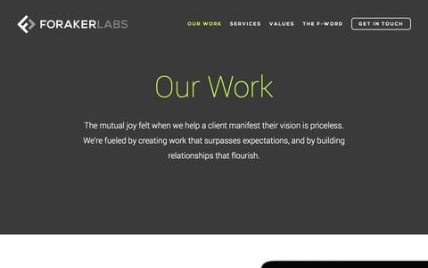 Screenshot of Products Page foraker.com - Web Development Company Portfolio | Foraker Labs - captured Feb. 10, 2016