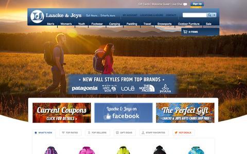 Screenshot of Home Page ljoutdoors.com - Laacke & Joys   Milwaukee's Outdoor Sporting Goods Specialists - captured Oct. 1, 2014