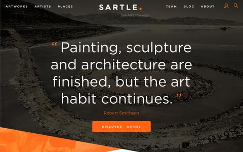 Screenshot of Home Page sartle.com - Sartle - See Art Differently | See Art Differently - captured May 18, 2018