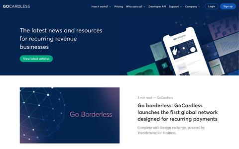 Screenshot of Blog gocardless.com - Resources | GoCardless - captured Nov. 28, 2019