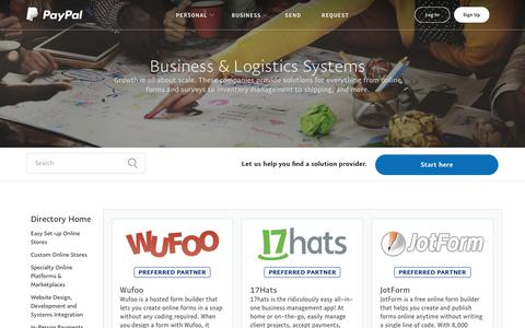 PayPal Partner Solutions Directory