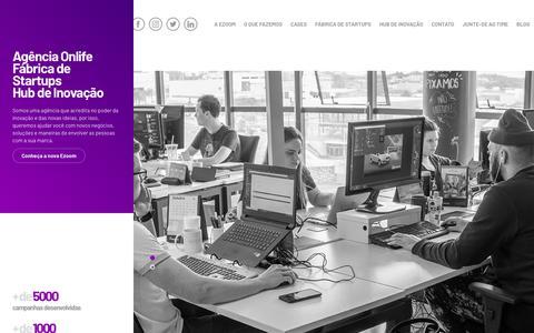 Screenshot of Home Page ezoom.com.br - ezoom. - captured Jan. 18, 2020