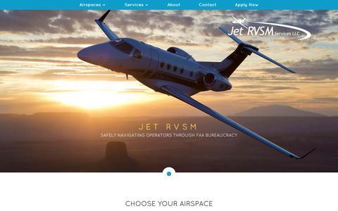 Screenshot of Home Page jetrvsm.com - Jet RVSM Services   Aviation Manual Preparation Services - captured Oct. 16, 2017
