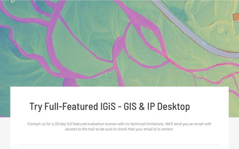 Screenshot of Trial Page sgligis.com - Scanpoint Geomatics Ltd.: GIS & IP Software, Solution, Services, Apps Customization and Data - captured Oct. 2, 2018