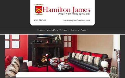 Screenshot of Site Map Page hamilton-james.co.uk - Bespoke inventory service to suit you - captured Sept. 27, 2014