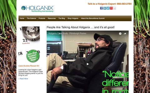 Screenshot of Testimonials Page holganix.com - Holganix - Holganix testimonials - captured Feb. 18, 2018