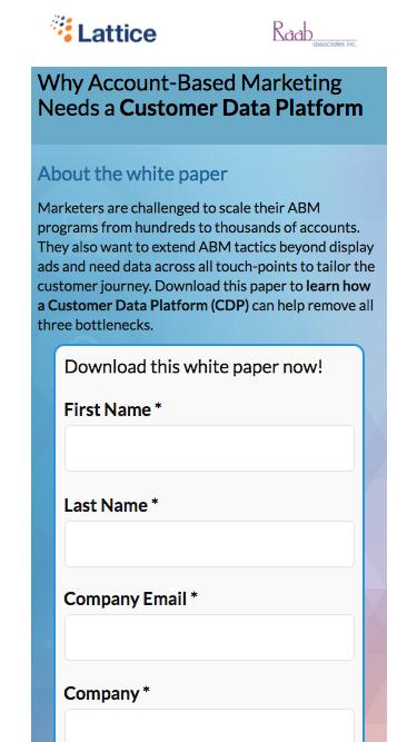 ABM Customer Data Platform