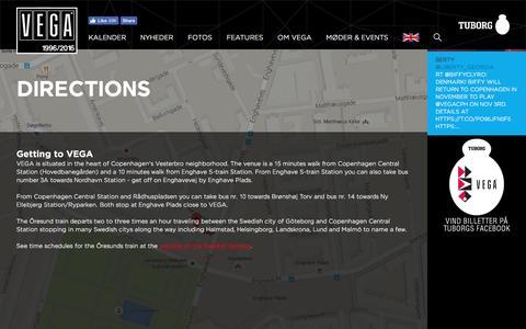 Screenshot of Maps & Directions Page vega.dk - VEGA   Musikkens hus - captured Aug. 12, 2016