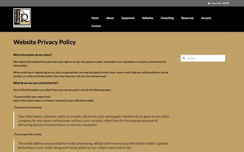Screenshot of Privacy Page rybackandryback.com - Ryback and Ryback Website Privacy Policy - captured Oct. 19, 2018