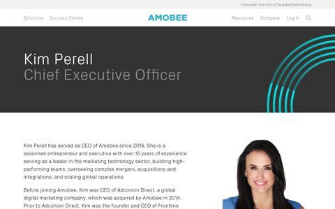 Screenshot of Team Page amobee.com - Kim Perell — Amobee - captured Nov. 18, 2019