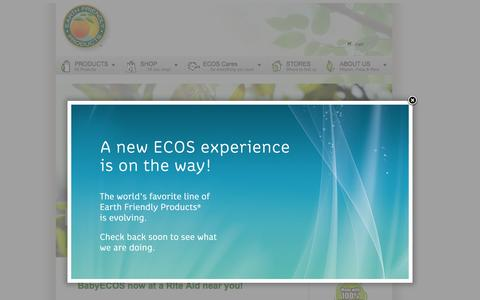 Screenshot of Home Page ecos.com - Earth Friendly Products - captured Oct. 2, 2015