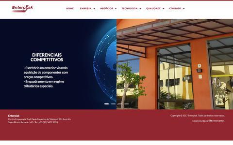 Screenshot of Home Page enterplak.com.br - Enterplak - captured Aug. 9, 2017