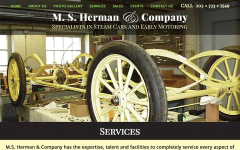 Screenshot of Services Page hermancompany.com - MS Herman & Company - Services - captured Sept. 19, 2017