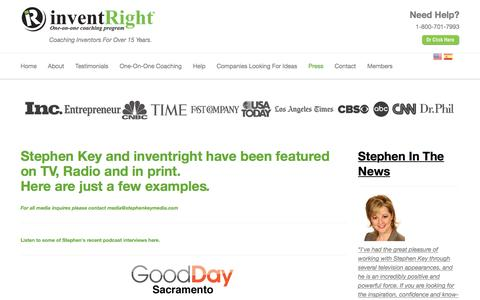 Screenshot of Press Page inventright.com - Press - InventRight - captured Aug. 7, 2016