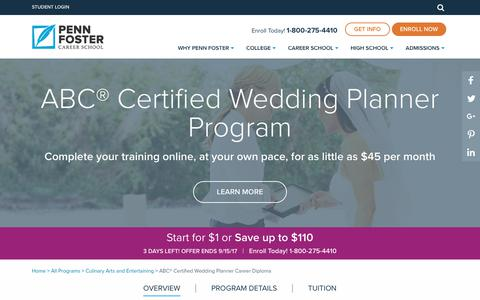 Online Wedding Planner Certification & Training | Penn Foster Career School