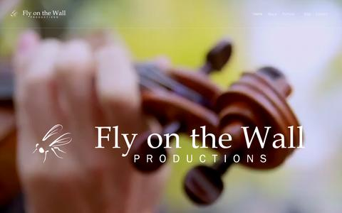 Screenshot of Home Page flywall.com - Fly on the Wall Productions | Video. Documentary. Multimedia. - captured Sept. 21, 2015