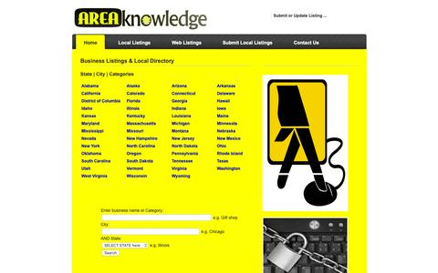 Screenshot of Home Page areaknowledge.com - Business Listings & Local Directory - Areaknowledge.com - captured Oct. 7, 2018