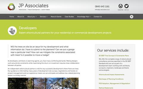 Screenshot of Developers Page jp-associates.co.uk - Developers » JP Associates - captured Nov. 17, 2016
