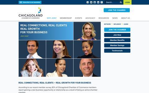 Screenshot of Testimonials Page chicagolandchamber.org - Testimonials - captured July 28, 2017