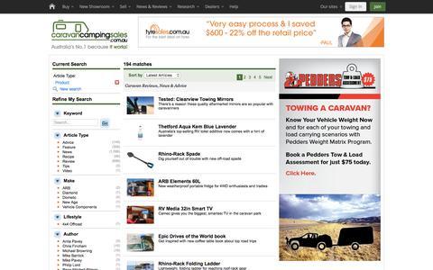 Screenshot of Products Page caravancampingsales.com.au - Caravan - Reviews, News & Advice - captured Oct. 16, 2017