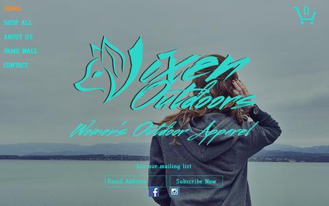 Screenshot of Home Page vixenoutdoors.com - Vixen Outdoors - captured Nov. 9, 2017