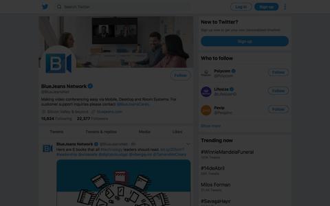 Tweets by BlueJeans Network (@BlueJeansNet) – Twitter