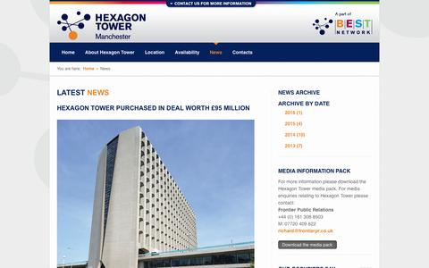 Screenshot of Press Page hexagon-tower.co.uk - Hexagon Tower, Manchester | Latest News - captured May 3, 2016