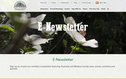 Screenshot of Signup Page yosemitethisyear.com captured Oct. 19, 2018