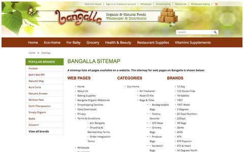 Screenshot of Site Map Page bangalla.com - Sitemap - captured May 31, 2017