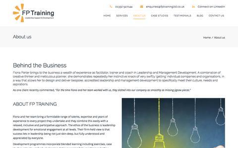 Screenshot of About Page fptrainingltd.co.uk - Leadership and Management Development in the UK   FP Training - captured Aug. 3, 2016