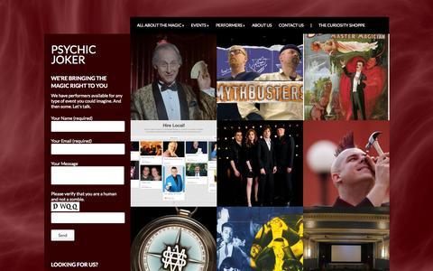 Screenshot of Home Page psychicjoker.com - Psychic Joker - captured Sept. 30, 2014