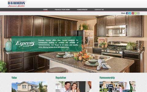 Screenshot of drhorton.com - Express Homes | Affordable Homes Built with Quality and Craftsmanship - captured Dec. 9, 2016