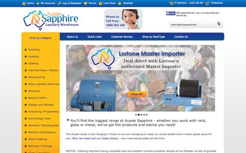 Screenshot of Support Page aussiesapphire.com.au - Aussie Sapphire, Specialists in Lapidary Supply - captured Sept. 22, 2014