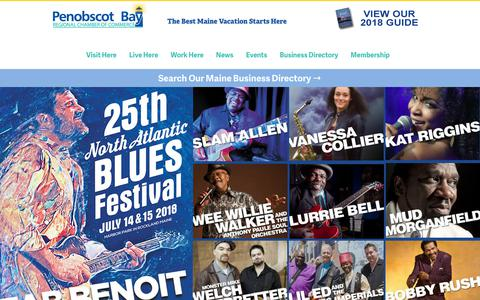 Screenshot of Home Page camdenrockland.com - Camden, Maine | Rockland, Maine Chamber of Commerce - captured July 6, 2018