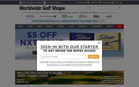 Screenshot of Home Page worldwidegolfshops.com - Worldwide Golf Shops   One-Stop Shop for Golf Clubs, Apparel & Equipment - captured June 22, 2017
