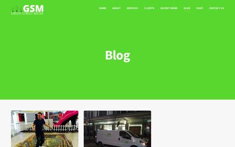 Screenshot of Blog greenstreetmedia.eu - Blog - Green Street Media - captured May 24, 2017