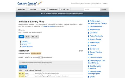 Screenshot of Developers Page constantcontact.com - Individual Files   Constant Contact Developer - captured June 18, 2019