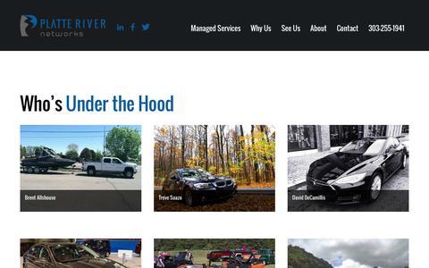Screenshot of Team Page platteriver.com - The Team at Platte River Networks - captured Jan. 31, 2017