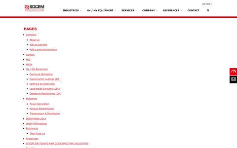 Screenshot of Site Map Page sdcem.com - Sitemap - SDCEM - captured July 25, 2018