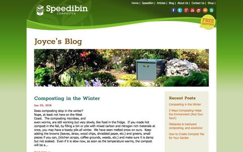Screenshot of Blog speedibin.com - Joyce's Blog – Speedibin Composters - captured Sept. 21, 2018