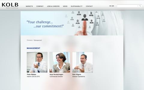 Screenshot of Team Page kolb.ch - Management - captured Oct. 6, 2014